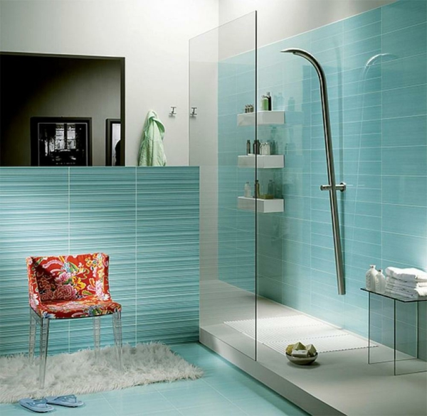 Baño de ideas-para-azulejos de color azul claro color mobiliario de baño idea
