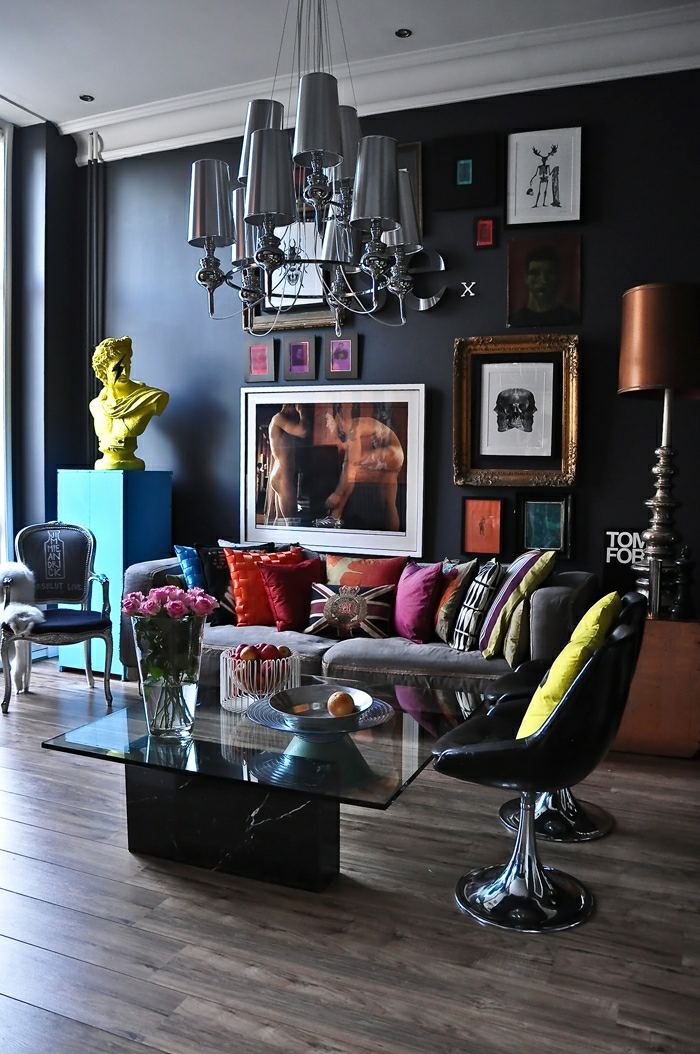 Photo de-salon-moderne-abstract-cool-extravagant intérieur élégant
