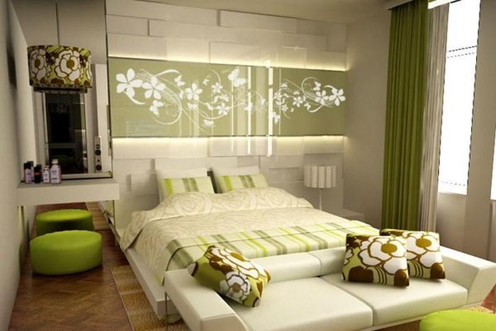 colori per la camera da letto interna verde-A-creative da camera da letto