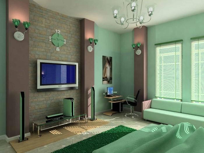Colori per camera da letto Green Design-A-Modern