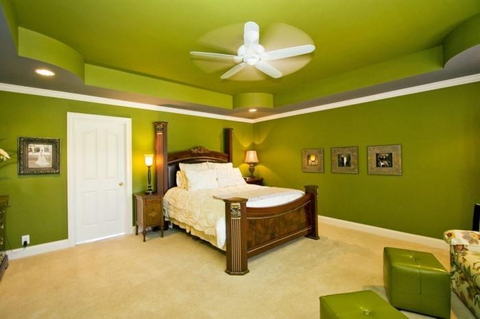 Colori per la camera da letto verde-a-intrigante