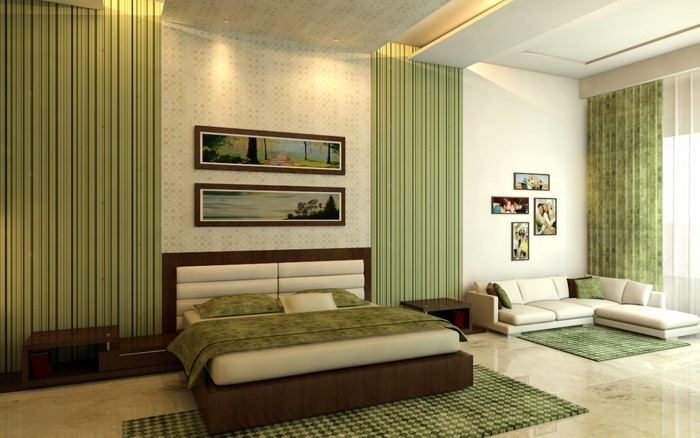 Culori pentru dormitorul verde-a-Beau-interior