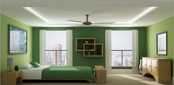 Culori pentru dormitorul de decizie verde