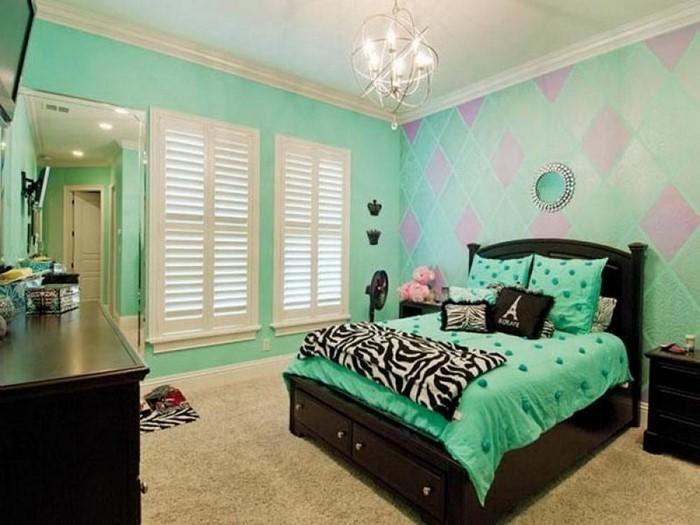 Colori per la stanza verde Un moderno Еinrichtung