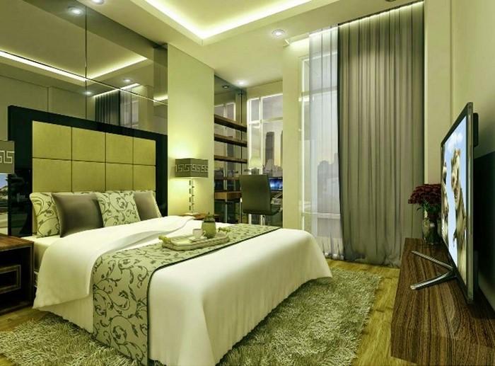 Colori per la stanza verde Un design moderno