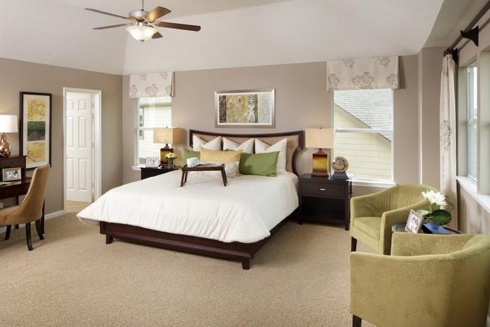 Culori pentru dormitorul verde-frumos Material