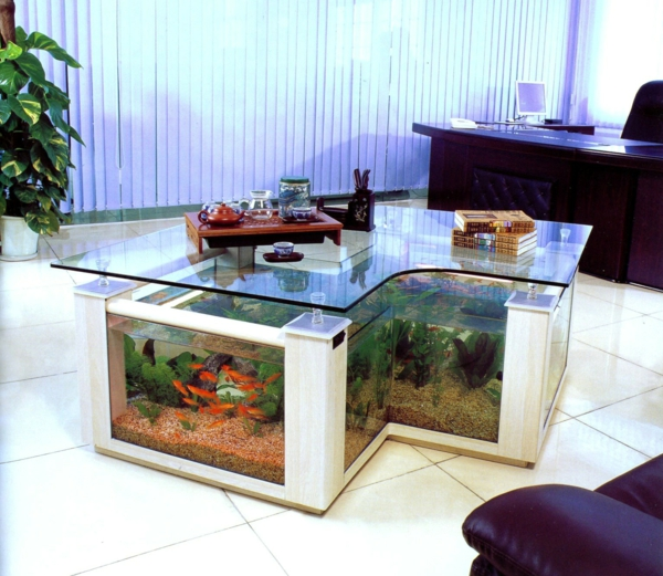 aquarium table-table basse