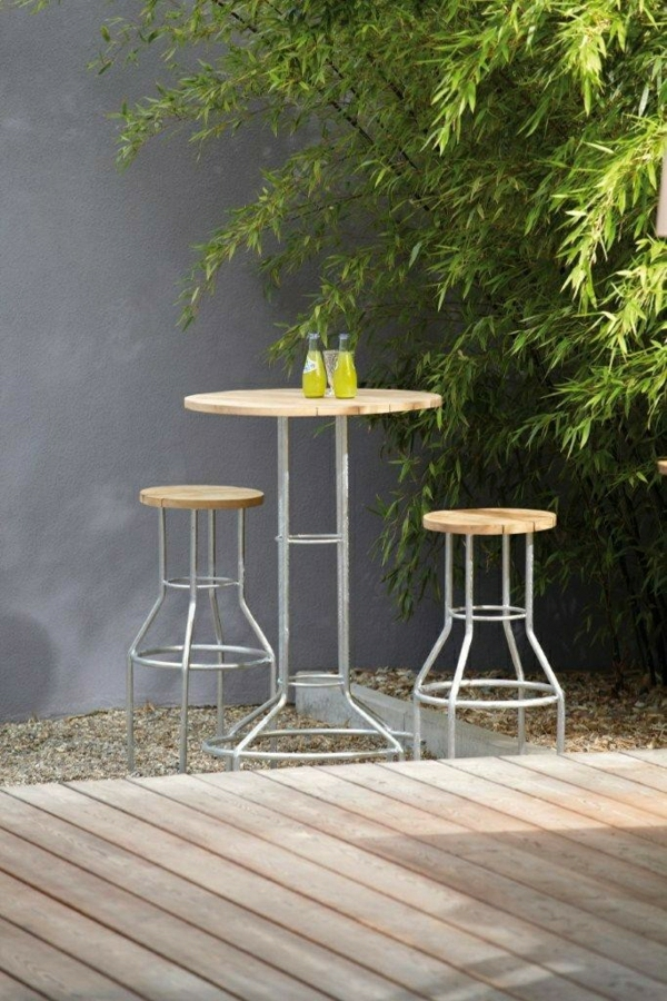 barre ronde barre table groupe lucca-Teck table avec tabouret