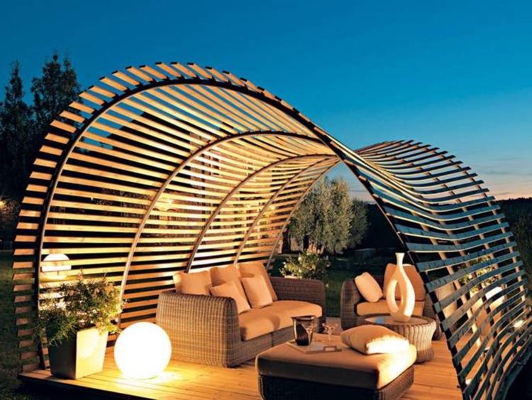 Hozzon létre harmonikus otthont fém és fa elemekkel
