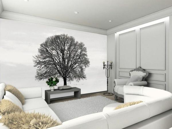 Dekotapete blago za svoje zidine - Baum fur wohnzimmer ...