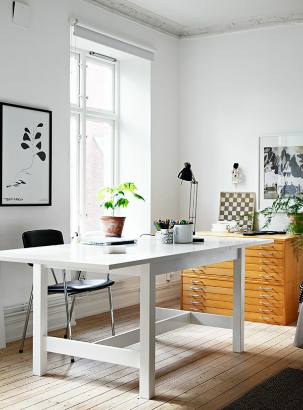 Feng-Shui-back in-Arbeitszimmer-a-la-pared - óptima