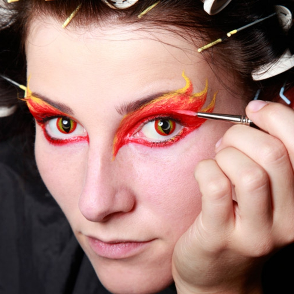 Halloween arcok Red-make-up
