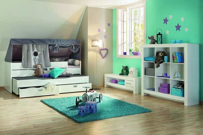 kinderzimmer junge 115. Black Bedroom Furniture Sets. Home Design Ideas
