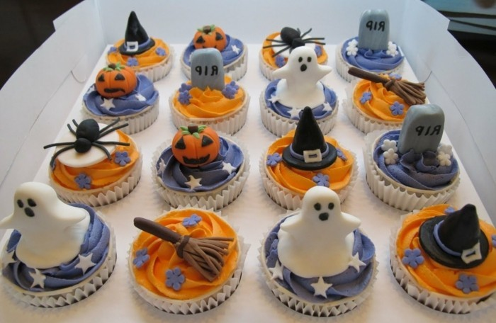 muffins décoration-halloween-boo-fantôme