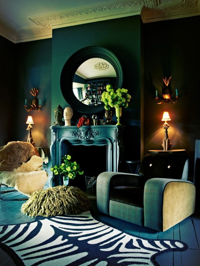la peinture murale belle et efficace petrol. Black Bedroom Furniture Sets. Home Design Ideas