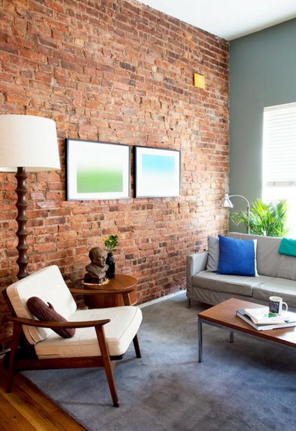 دمج جدار من الطوب في الشقة - أفكار باهظة